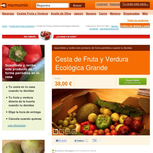 Comprar comida online: MUMUMIO