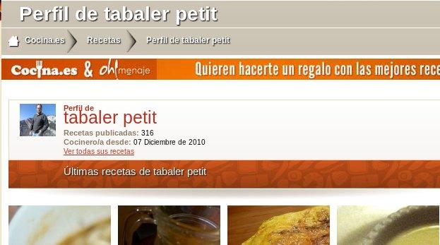 Recetas de Tabaler Petit en Cocina.es