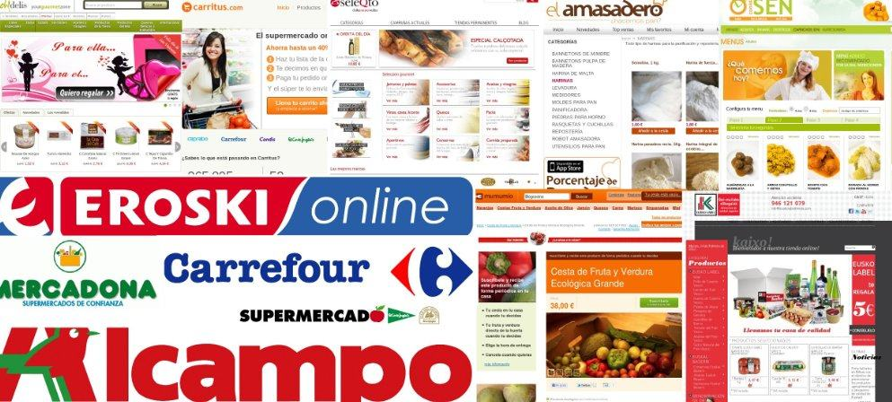 Sitios web donde comprar comida online