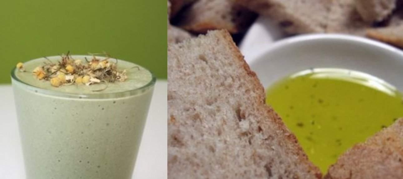 Batido de frutas y pan con aceite: el desayuno perfecto