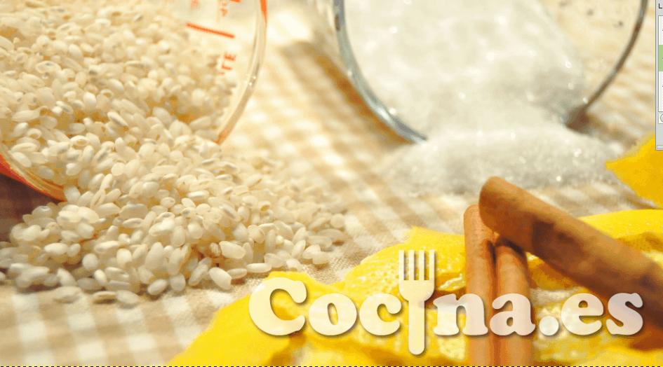 Ingredientes del arroz con leche