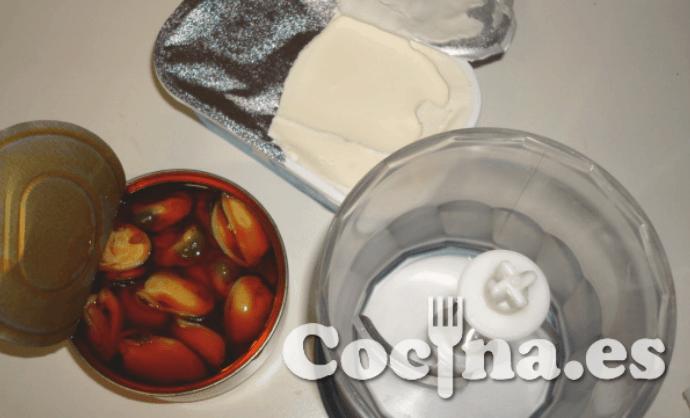 Ingredientes del paté de mejillones