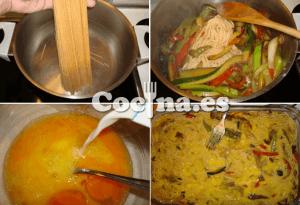 Proceso de elaboración del pastel de verduras