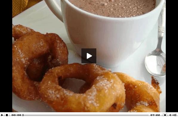 Vídeo de la receta de los buñuelos de calabaza