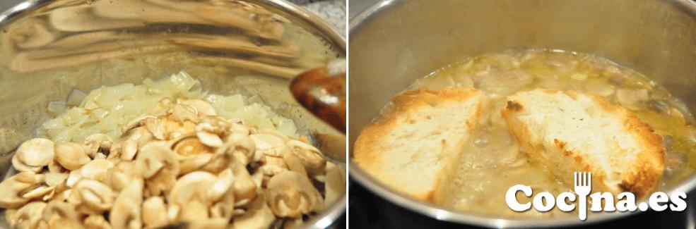 Crema de champiñones: proceso de elaboración