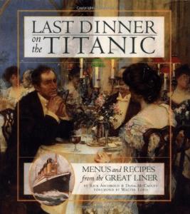 Portada del libro Last Dinner on the Titanic, La última cena en el Titanic