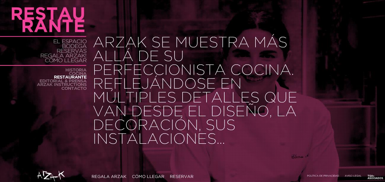 Web del Restaurante Arzak