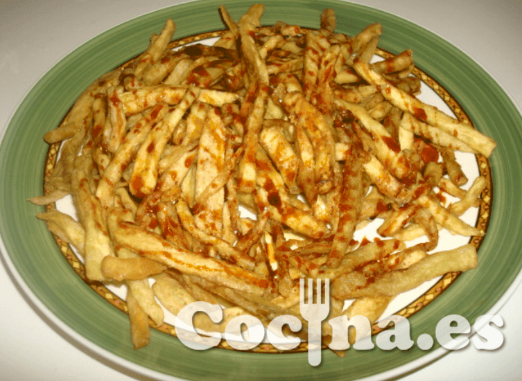"Falsas patatas fritas ""light"""
