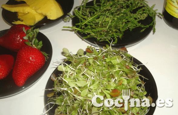 Ensalada exótica: ingredientes