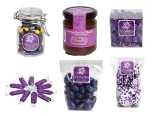"Productos con violeta de ""La Maison de la violette"""
