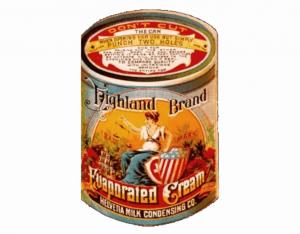 Highland Evaporated Cream, la primera marca de leche evaporada.