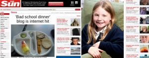 Martha Payne en el diario británico The Sun