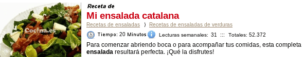 Ensalada catalana en Cocina.es