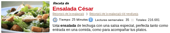 Ensalada César en Cocina.es