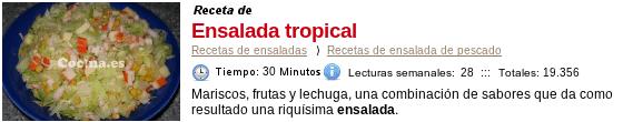 Ensalada tropical en Cocina.es