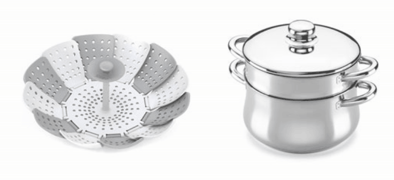 Rejilla y cacerola para cocinar al vapor