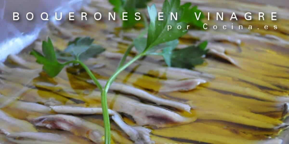 Receta: boquerones en vinagre