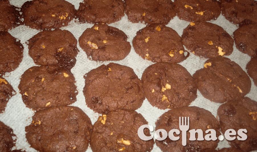 Elaboracion de las cookies de chocolate