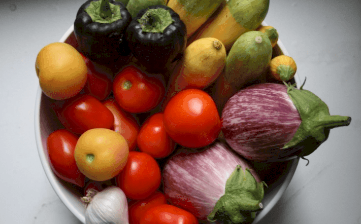 Frutas y verduras de todos los colores