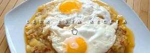 Cenas fáciles: huevos con chorizo, patatas y cebolla