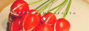 Cenas fáciles: tulipanes de tomate y queso