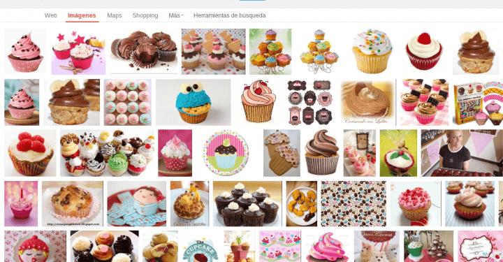 Cupcake en Google
