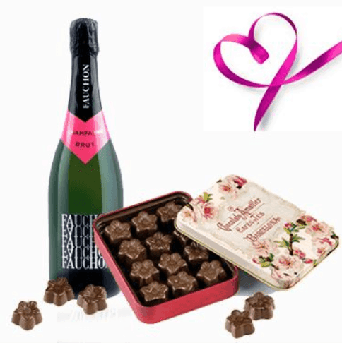 Bombones y champan para San Valentin