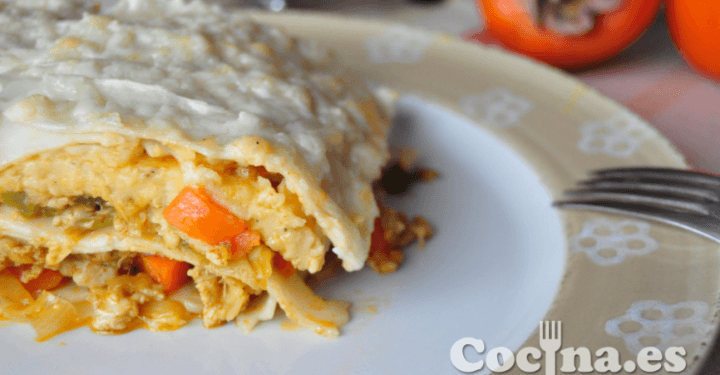 Lasaña de carne y verduras