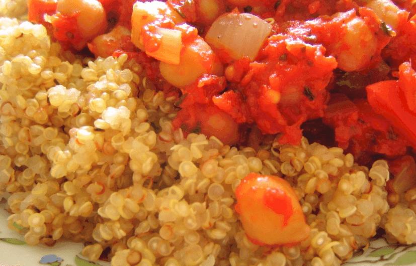 Receta con quinoa: ratatouille con quinoa
