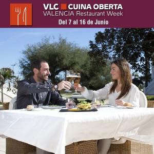 Cartel de Valencia Cuina Oberta, junio 2013