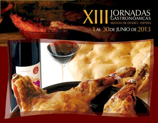 Cartel de las XIII Jornadas Gastronómicas del Lechazo Asado en Aranda de Duero