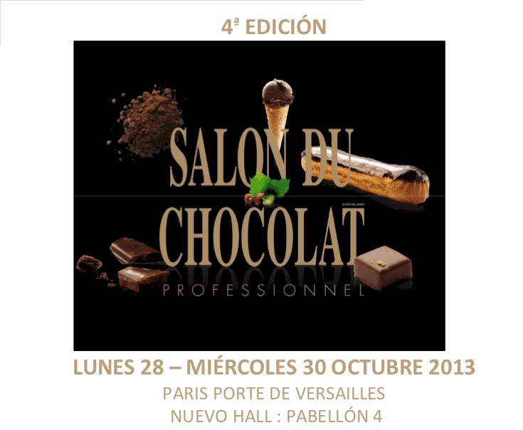 Cartel del IV Salón del Chocolate de París