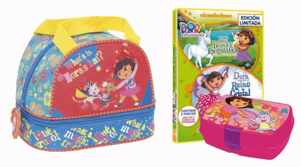 Sandwichera + portameriendas de Dora la Exploradora