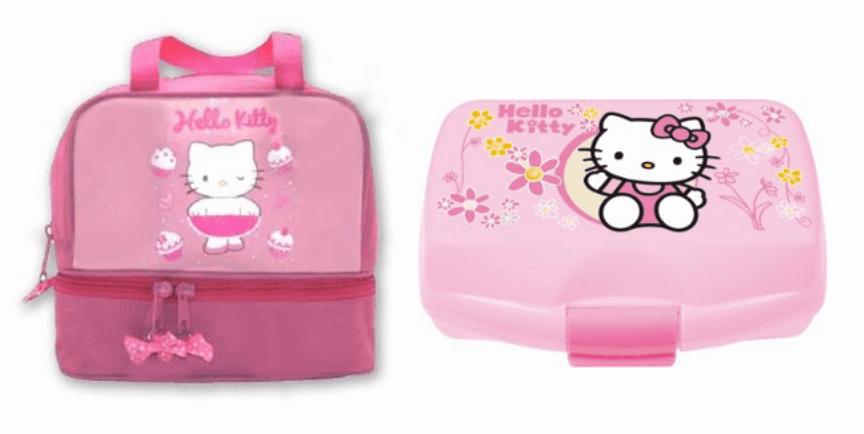 Sandwichera + portameriendas de Hello Kitty