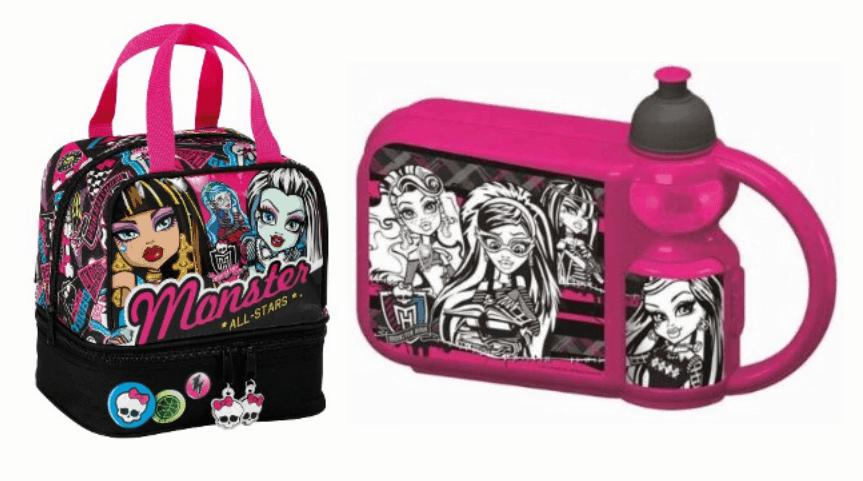 Sandwichera + portameriendas de las Monster High