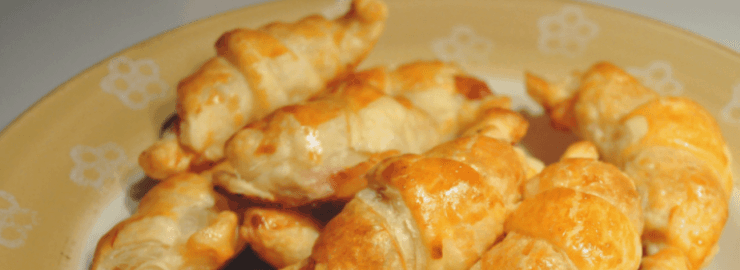 Cenas para niños: Croissants rellenos