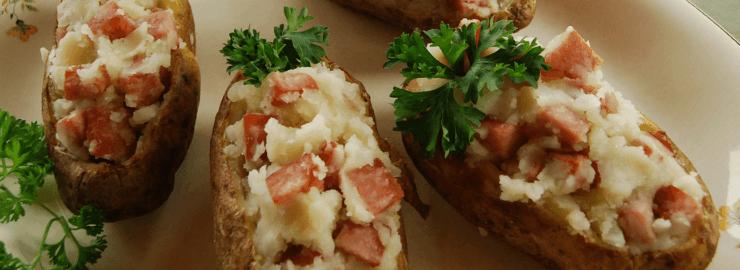 Cenas para niños: Patatas rellenas al horno