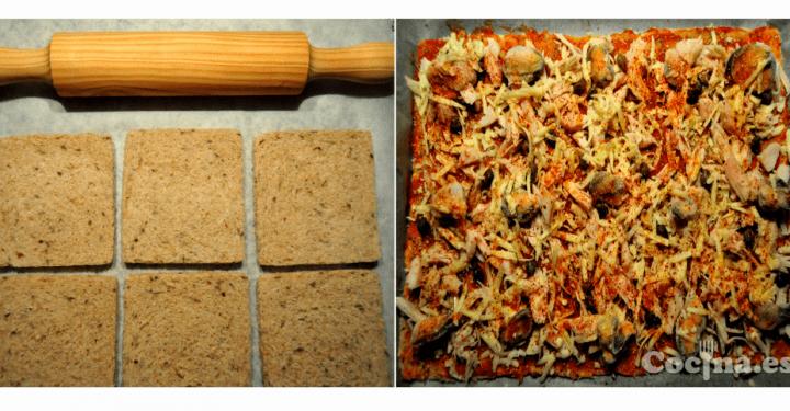 Masa de pizza con pan de molde
