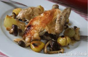 Pollo con castañas