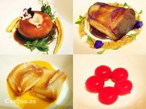 Cuatro platos elaborados por Diego Guerrero.