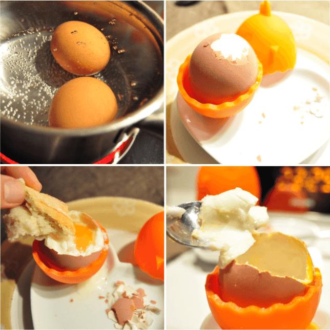 como hacer un huevo pasado por agua
