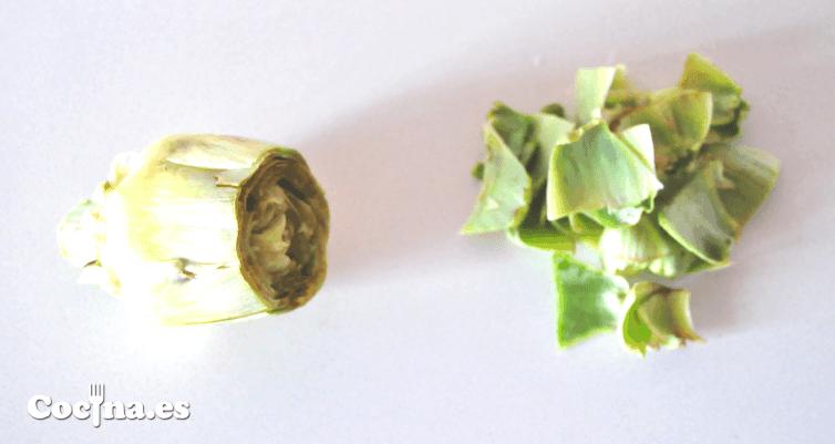 Cortar alcachofas