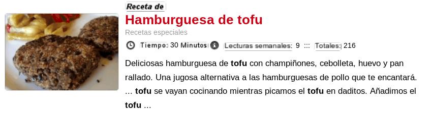 Hamburguesas de tofu - Recetas con tofu
