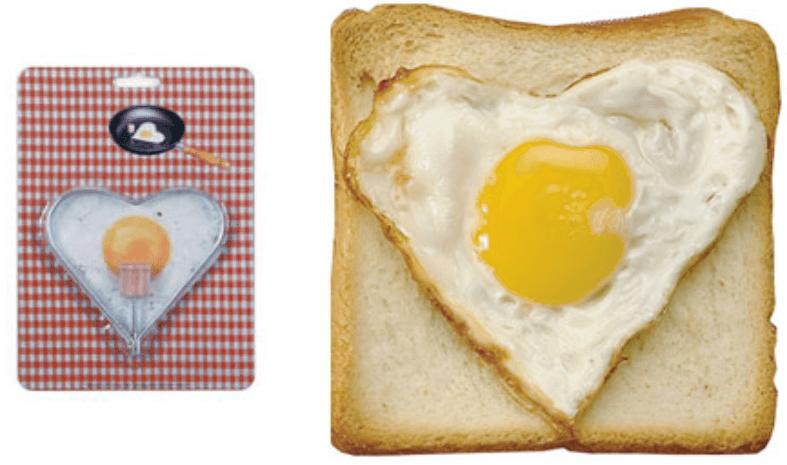 Molde para huevos con forma de corazón