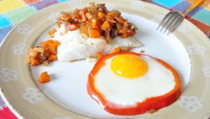 Molde de pimiento para huevos