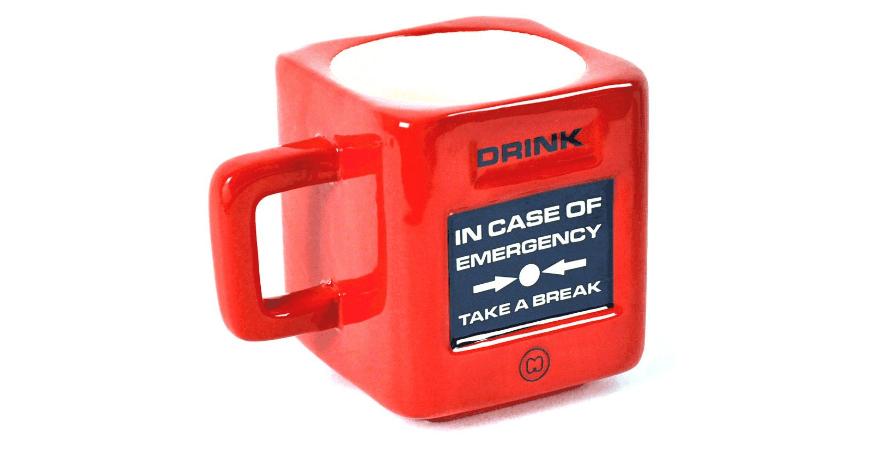 Taza Alarma Emergencia