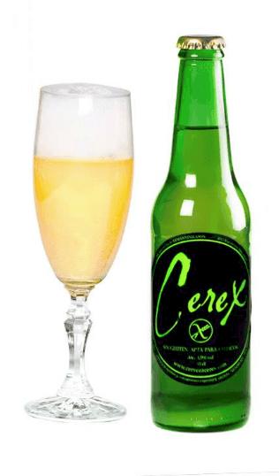 Cerveza sin gluten Cerex