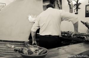 Asado tradicional del lechazo