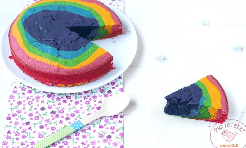 Bizcocho arcoiris