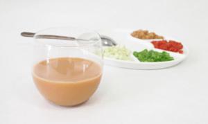 Gazpacho andaluz cromático, de Dos yemas.